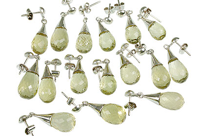 Design 13436: yellow bulk lots post earrings
