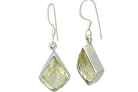 Design 13535: yellow lemon quartz earrings