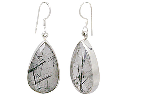 Design 13541: gray rotile drop earrings