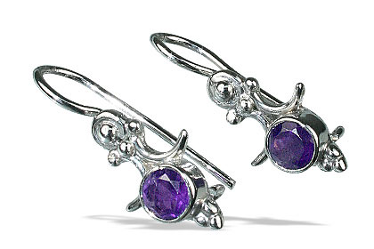 Design 13550: purple amethyst earrings