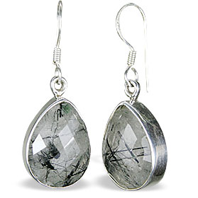Design 13579: gray rotile drop earrings