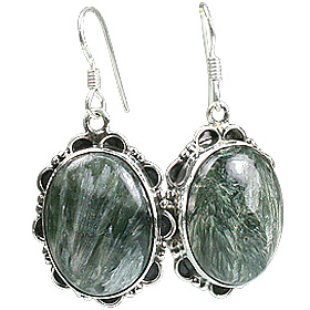 Design 13608: green jasper american-southwest, ethnic earrings