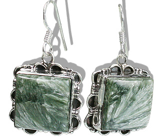 Design 13616: green,gray jasper american-southwest, ethnic earrings