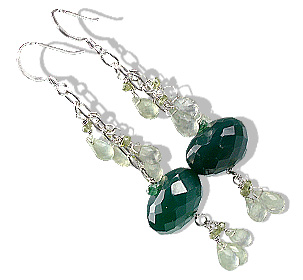 Design 13620: green aventurine chandelier earrings