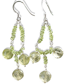 Design 13637: green prehnite earrings