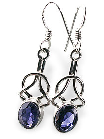 Design 13662: blue iolite contemporary earrings