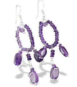 Design 13935: purple amethyst chandelier earrings