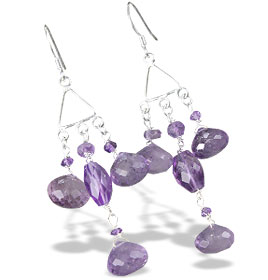 Design 13936: purple amethyst chandelier earrings