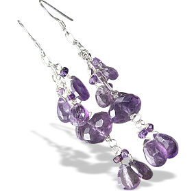 Design 13937: purple amethyst contemporary earrings