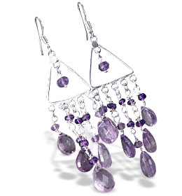 Design 13940: purple amethyst chandelier earrings