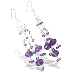 Design 13941: purple amethyst chandelier earrings
