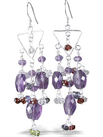 Design 13942: purple amethyst chandelier earrings