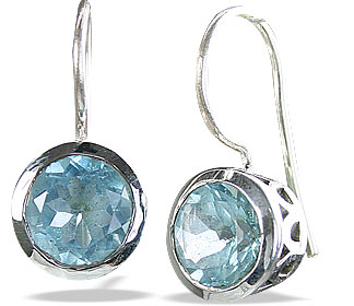 Design 14625: blue blue topaz earrings