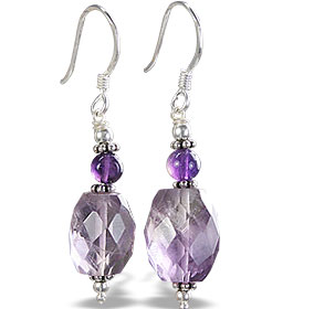 Design 14667: purple amethyst earrings