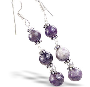 Design 14830: purple amethyst earrings