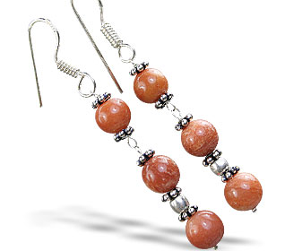 Design 14850: brown jasper earrings