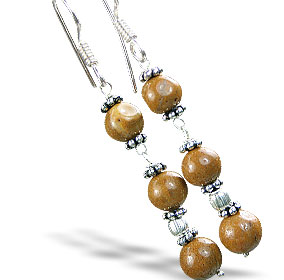 Design 14875: brown jasper earrings
