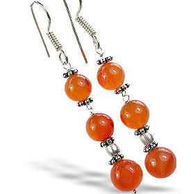 Design 14878: orange carnelian earrings