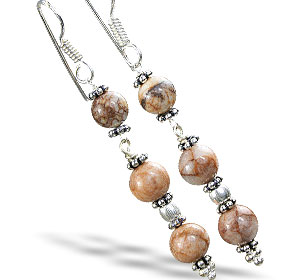 Design 14880: brown jasper earrings