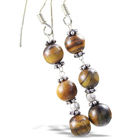 Design 14927: brown tiger eye earrings