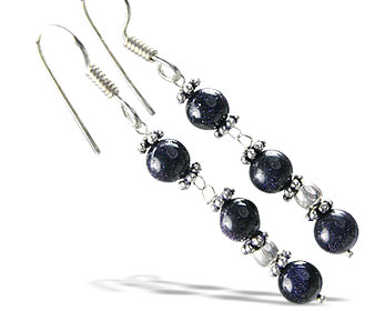 Design 14931: blue goldstone earrings
