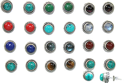 Design 14995: multi-color bulk lots post earrings