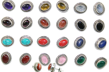 Design 14997: multi-color bulk lots post earrings