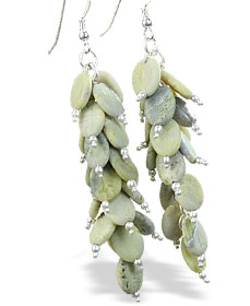 Design 15009: green jasper earrings