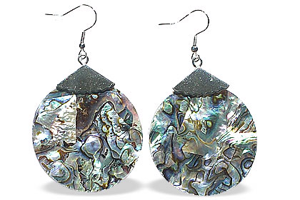 Design 15063: multi-color mother-of-pearl earrings