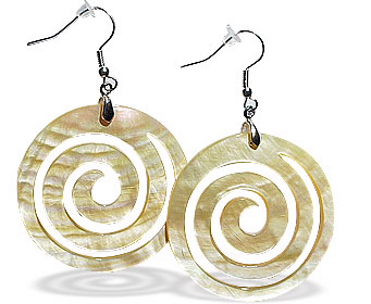 Design 15072: yellow shell tribal earrings
