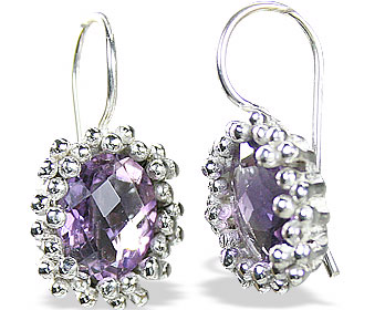 Design 15142: purple amethyst earrings