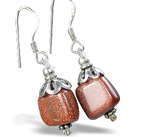 Design 15190: orange sunstone earrings