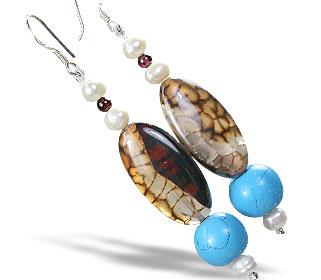 Design 15193: multi-color multi-stone earrings
