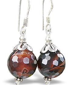 Design 15195: brown agate earrings