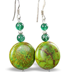 Design 15199: green mohave earrings
