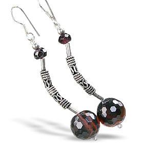 Design 15208: brown,red agate earrings