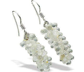 Design 15255: white crystal brides-maids earrings