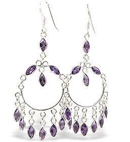 Design 15419: purple amethyst chandelier earrings
