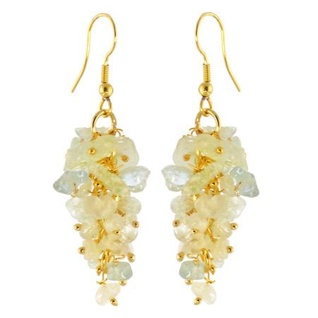 Design 15818: blue aquamarine chandelier earrings