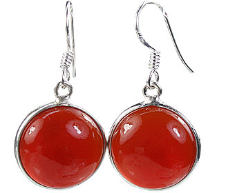 Design 16170: red carnelian contemporary earrings