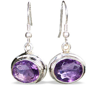 Design 16252: purple amethyst earrings