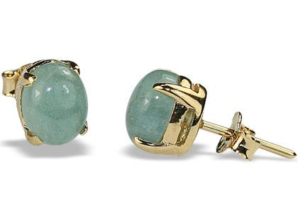 Design 16439: green aventurine post earrings