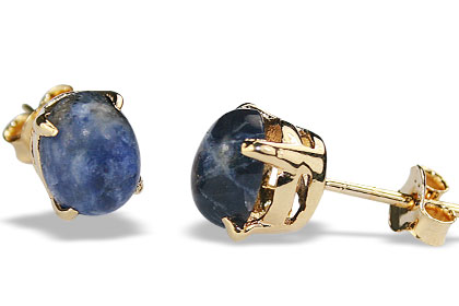 Design 16444: blue sodalite post earrings