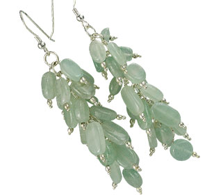 Design 16511: gray aventurine earrings