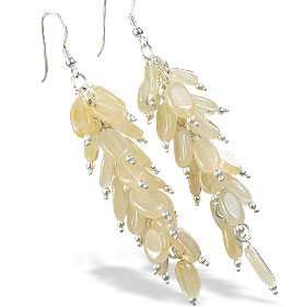 Design 16512: yellow aventurine earrings