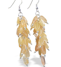 Design 16513: yellow aventurine earrings