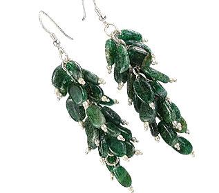 Design 16514: green aventurine earrings