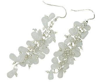 Design 16516: white aquamarine earrings