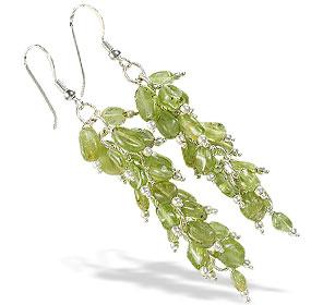 Design 16519: green aquamarine earrings