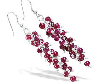Design 16521: red aquamarine earrings